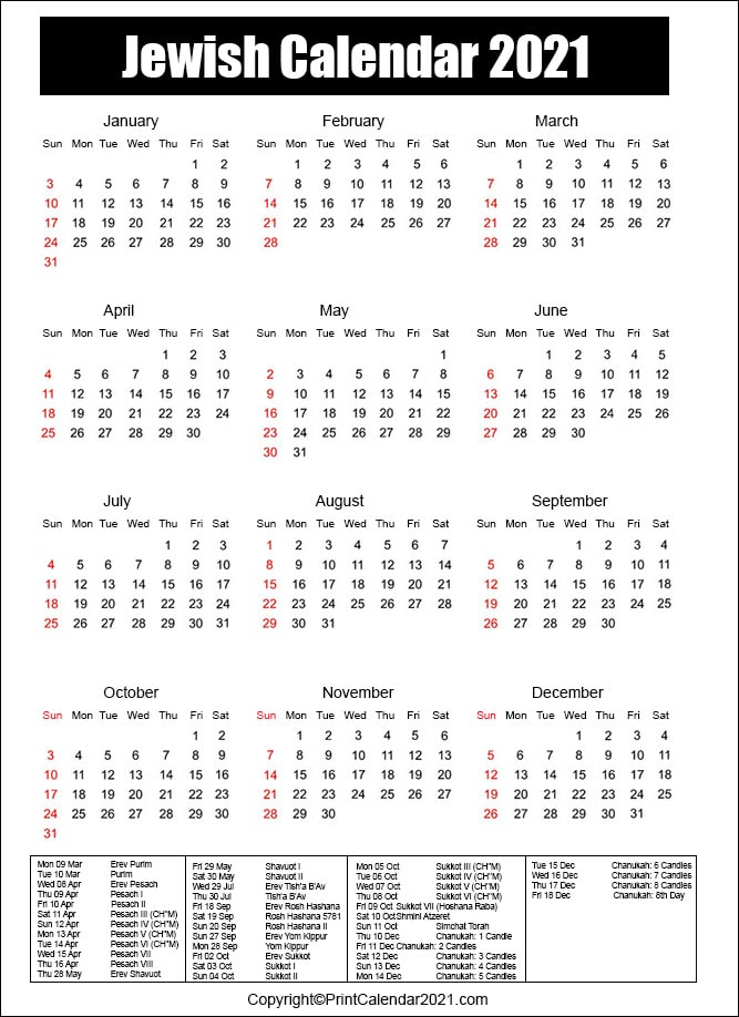 September 2021 Calendar With Jewish Holidays Jewish Holidays Calendar 2021 [Hebrew Calendar 5781]