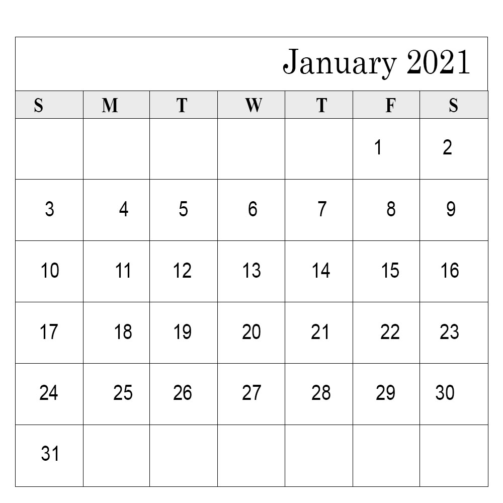 School Holidays in January 2021