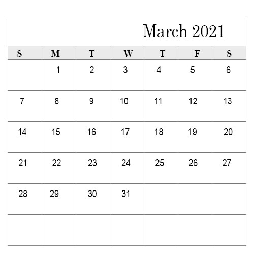 School Holidays in March 2021