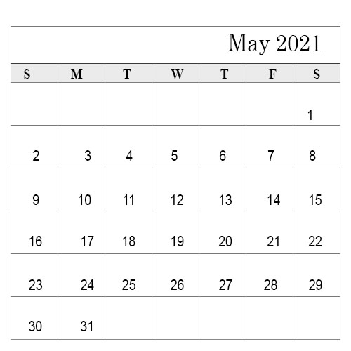 School Holidays in May 2021