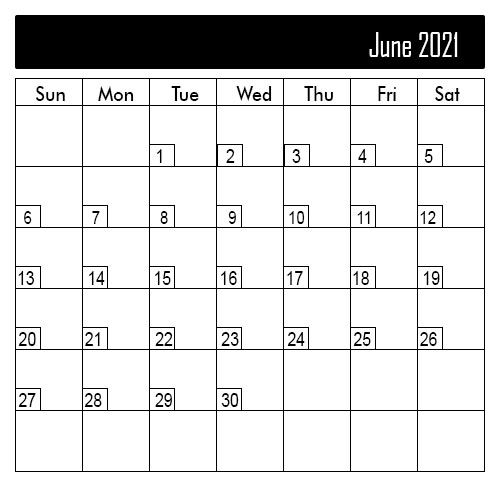 June 2021 Public Holiday