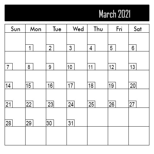 March 2021 Public Holiday